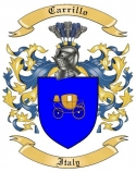 Carrillo Family Crest from Italy