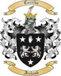 Carrlin Family Crest from Ireland
