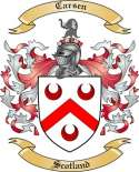 Carsen Family Coat of Arms from Scotland