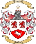 Casaday Family Crest from Ireland