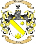 Casani Family Crest from Italy