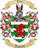 Case Family Coat of Arms from England