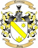 Cassano Family Coat of Arms from Italy