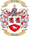 Cassidy Family Coat of Arms from Ireland