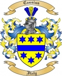 Cassius Family Crest from Italy2