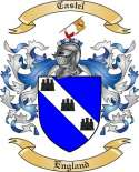 Castel Family Coat of Arms from England