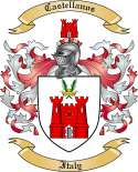 Castellanos Family Coat of Arms from Italy