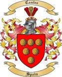 Castre Family Crest from Spain