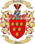 Castrillo Family Crest from Spain