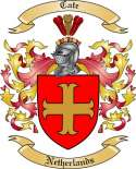 Cate Family Crest from Netherlands