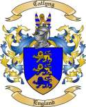 Catlyng Family Coat of Arms from England
