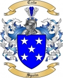 Cato Family Crest from Spain