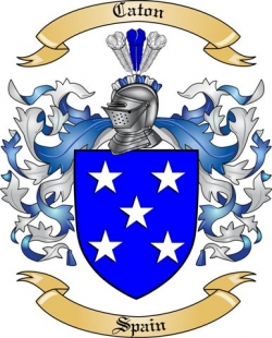 Caton Family Crest from Spain by The Tree Maker