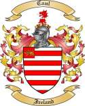 Caul Family Crest from Ireland