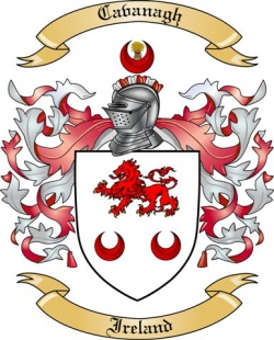 cavanagh family crest from ireland by the tree maker