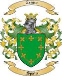 Ceano Family Coat of Arms from Spain