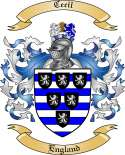 Cecil Family Coat of Arms from England