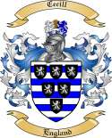 Cecill Family Coat of Arms from England
