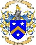 Ceeley Family Coat of Arms from England