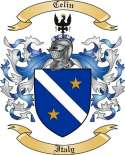 Celin Family Coat of Arms from Italy2