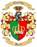 Cepedda Family Crest from Spain
