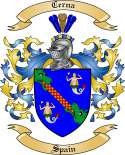 Cerna Family Crest from Spain