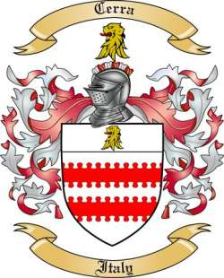 Cerra Family Coat of Arms from Italy