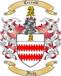 Cerretti Family Crest from Italy