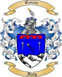 Cesare Family Coat of Arms from Italy2