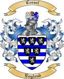 Cessel Family Coat of Arms from England