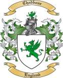 Chadbone Family Crest from England