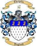 Chaiplin Family Crest from England