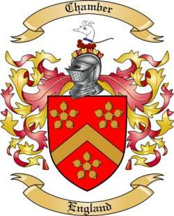 Chamber Family Crest from England
