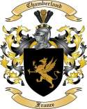 Chamberland Family Crest from France
