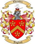 Chambre Family Crest from England