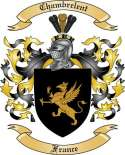 Chambrelent Family Crest from France