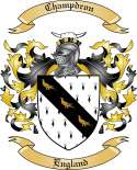 Champdron Family Crest from England