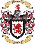 Champness Family Crest from England