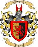 Champneys Family Crest from England2