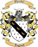 Chandri Family Crest from England
