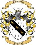Chandron Family Crest from England