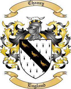 chaney family crest from england by the tree maker