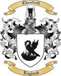 Chantrell Family Crest from England