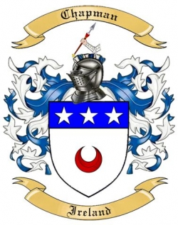 Chapman Family Crest From Ireland By The Tree Maker