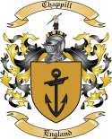 Chappill Family Crest from England