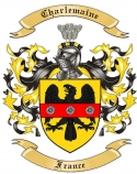 Charlemaine Family Crest from France