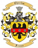 Charles Family Crest from France