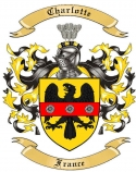 Charlotte Family Crest from France