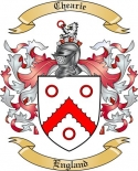 Chearie Family Crest from England