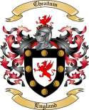 Cheatum Family Crest from England2